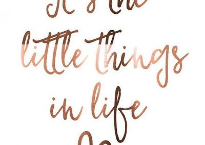 ...little things